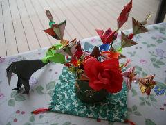患者様が作られた折り紙作品